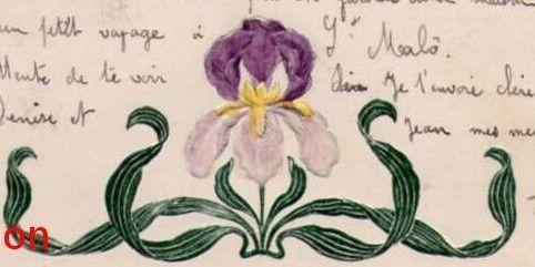 IRIS - 3673 - Art nouveau. France. 1908.