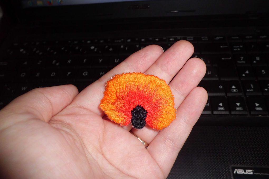 Ma broche coquelicot! / My poppy brooch!
