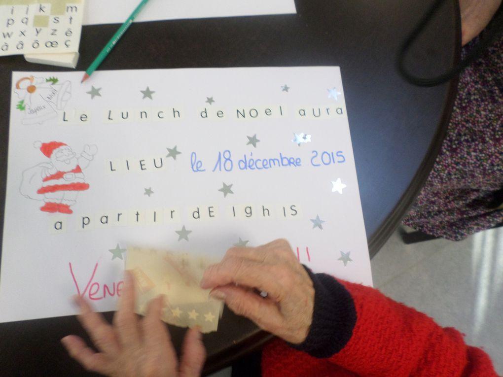 Création des affiches du lunch de noël