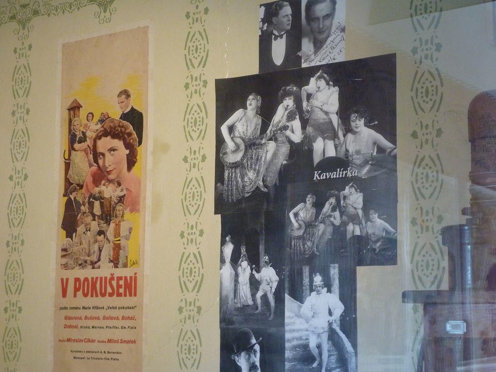 Au n° 12, la maison de l'historien Josef Kazda, qui a sauvé, dans les années 50, des milliers de films tchèques de la destruction par les nazis.