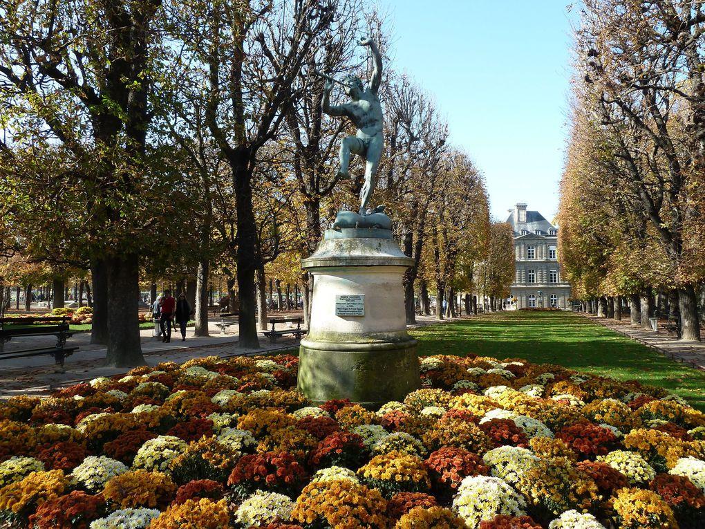Nous remontons le Boulevard Saint-Michel, traversons le Jardin du Luxembourg...