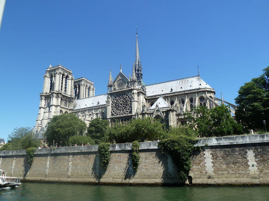Notre-Dame-de-Paris, Le pont Alexandre III, la passerelle Debilly et la Tour Eiffel.