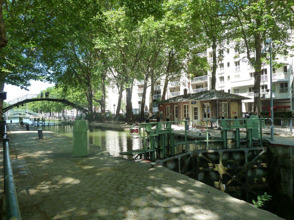 Le Canal Saint-Martin et la Place de la République.