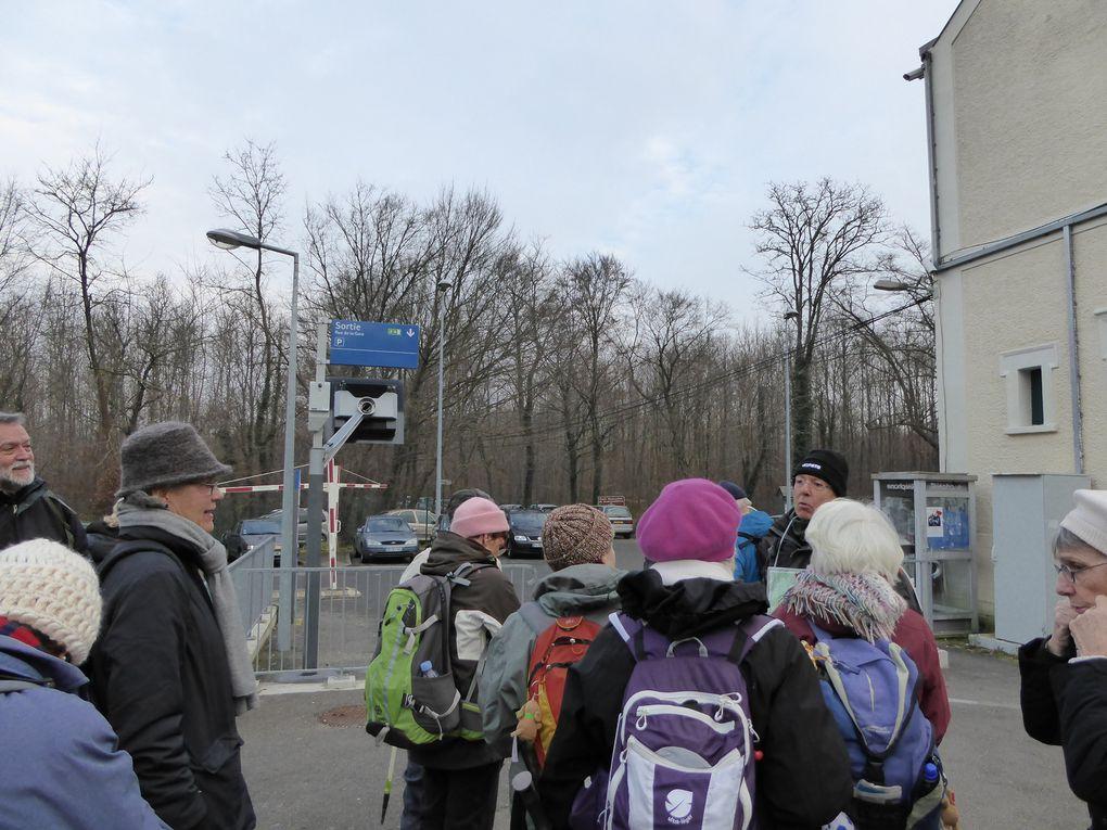 L'avantage de la gare de Thomery est sa situation en pleine forêt. Après les recommandations d'usage du bon randonneur par notre guide Gilbert, nous pouvons partir.