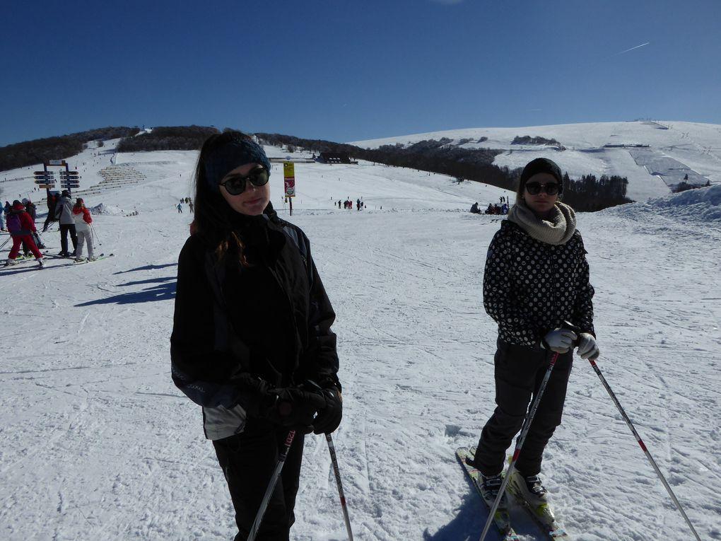 Journée ski pour les filles et raquettes pour Lucie et moi, nous les avons accompagnées par le télésiège Express Vologne.