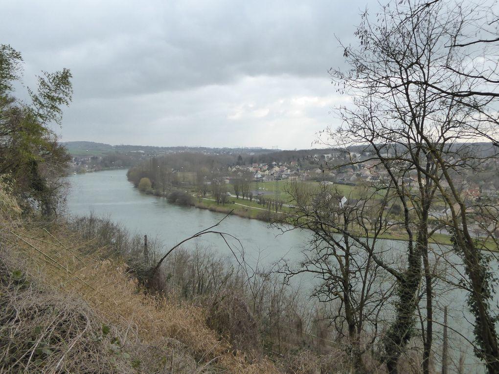 Randonnée de Saint-Mammès à Montereau. 19,5 km - 1/2.
