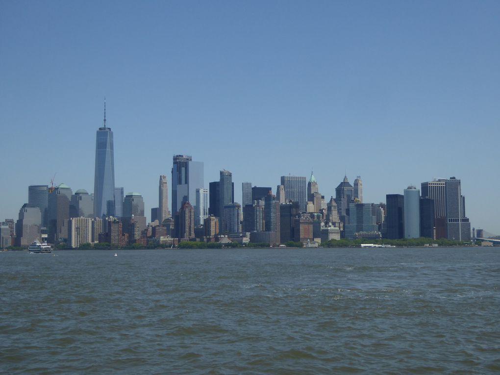 New York City, Battery Park et la statue de la liberté - Mai 2017.