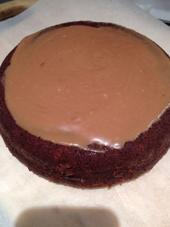Gateau pate a sucre au chocolat