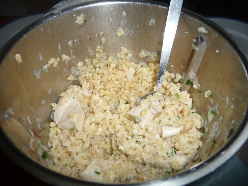 Blésotto au poulet
