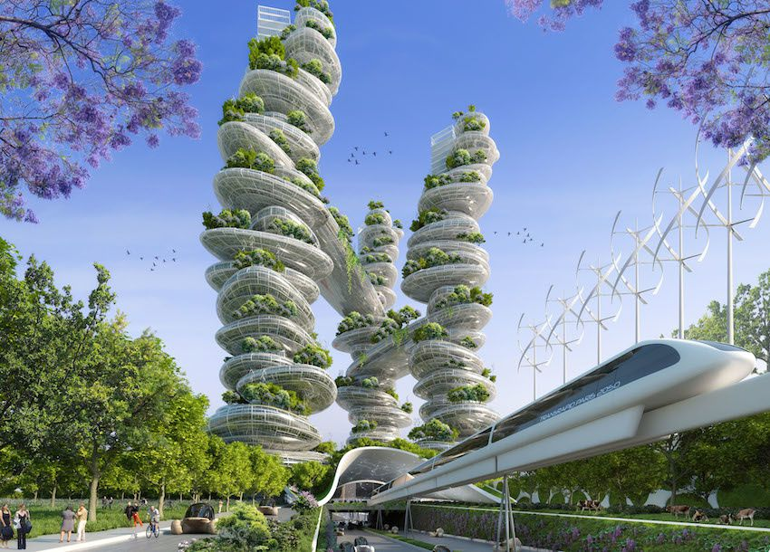 Paris en 2050 selon Vincent Callebaut