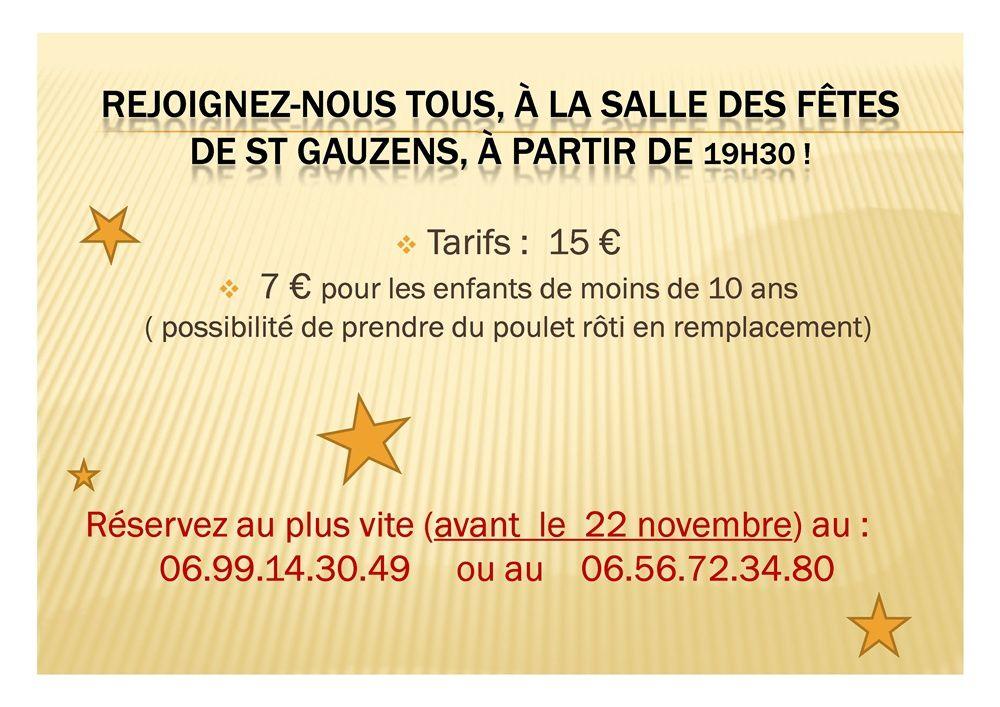 Soirée Poule au pot (29 novembre 2014)
