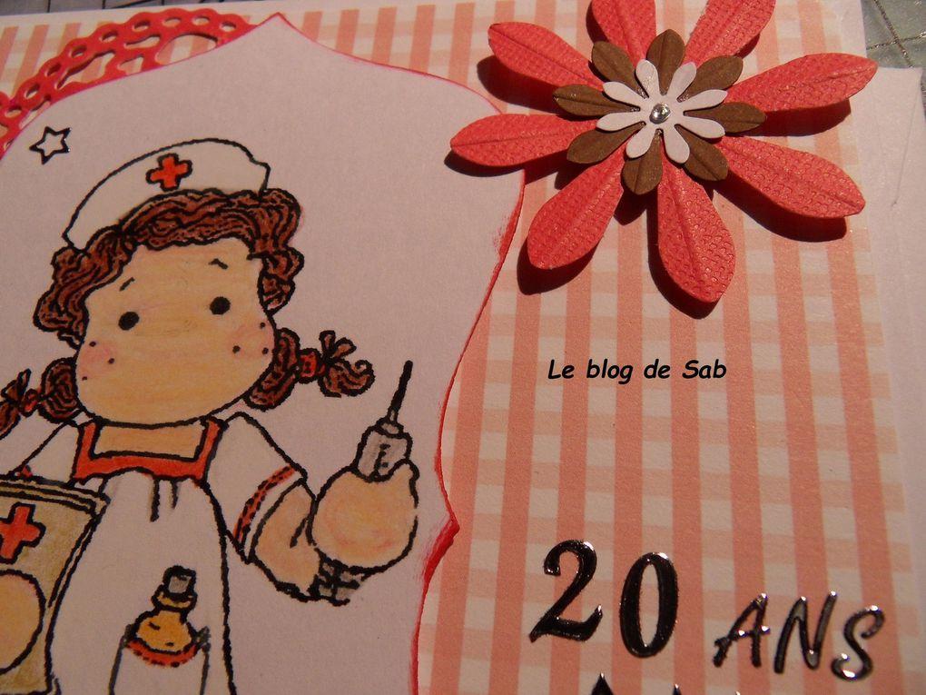 Carte anniversaire femme infirmière