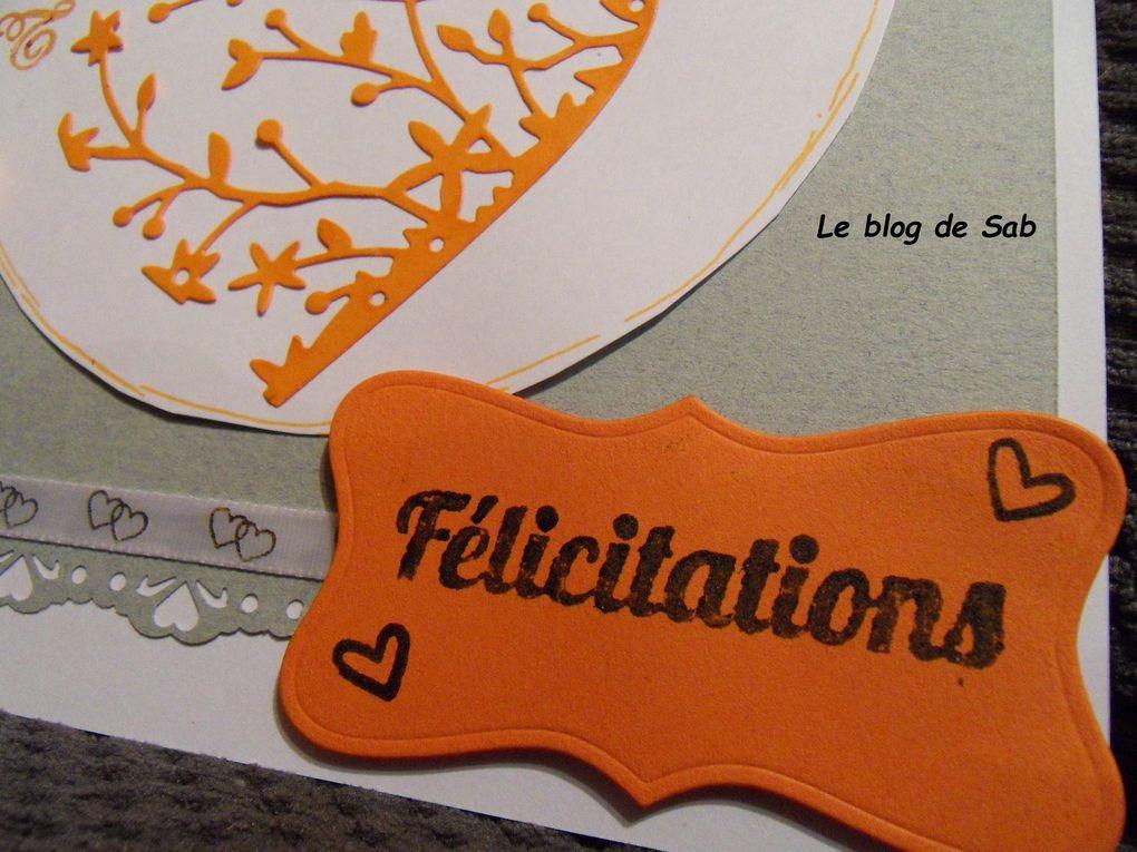 Carte félicitation mariage