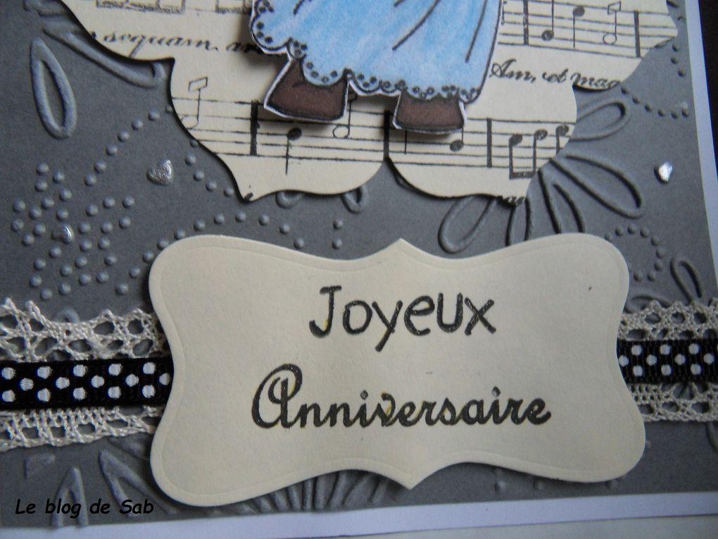 Carte anniversaire femme musique