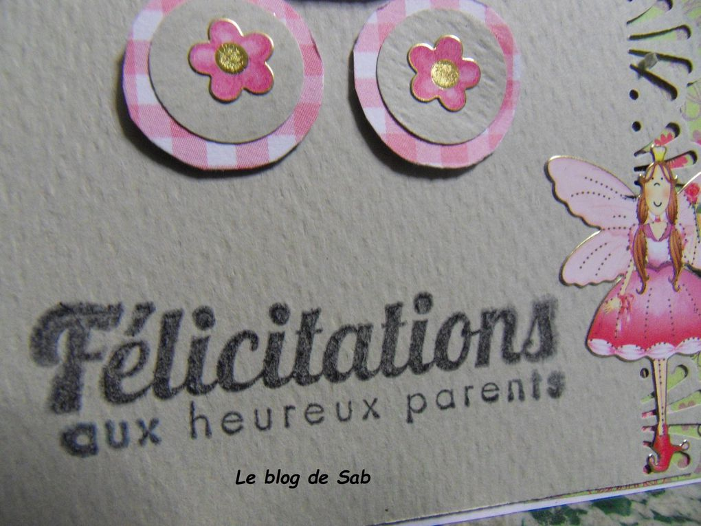 Carte félicitation naissance fille