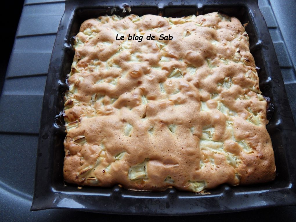 Gâteau à la rhubarbe (thermomix)