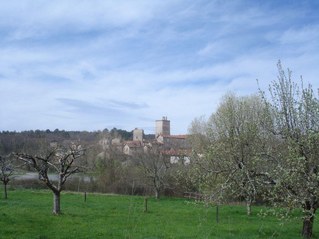 Lors de la promenade du 3 avril de Fourmagnac à Cardaillac par les crêtes, conduite par André Normand ....