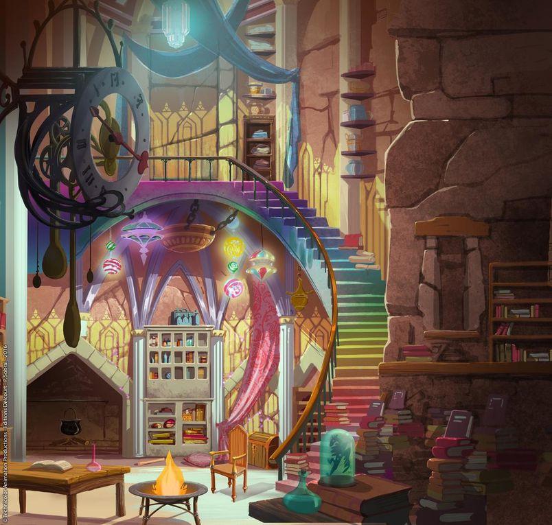 - Dans l'ordre: forêt d'Alysia / Sortie de tunnel dans la forêt d'Alysia / ruines dans la campagne d'Alysia // Jungle de Koléana / salle magique de Farsa Trappe / -