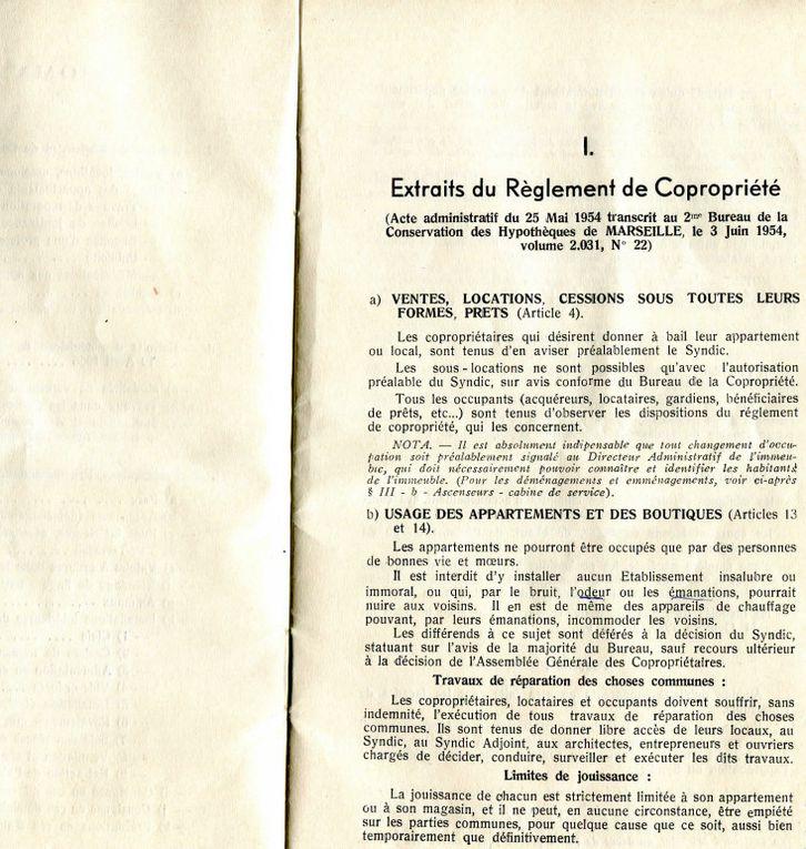Réglement interieur 1955