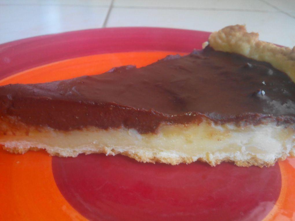 tarte fondante poire chocolat