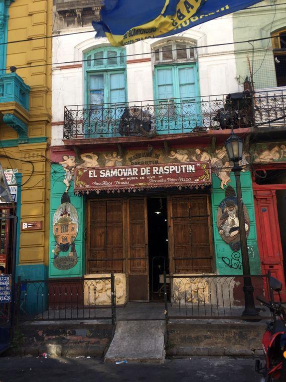 Quartier de LA BOCA et nos danseurs de tango