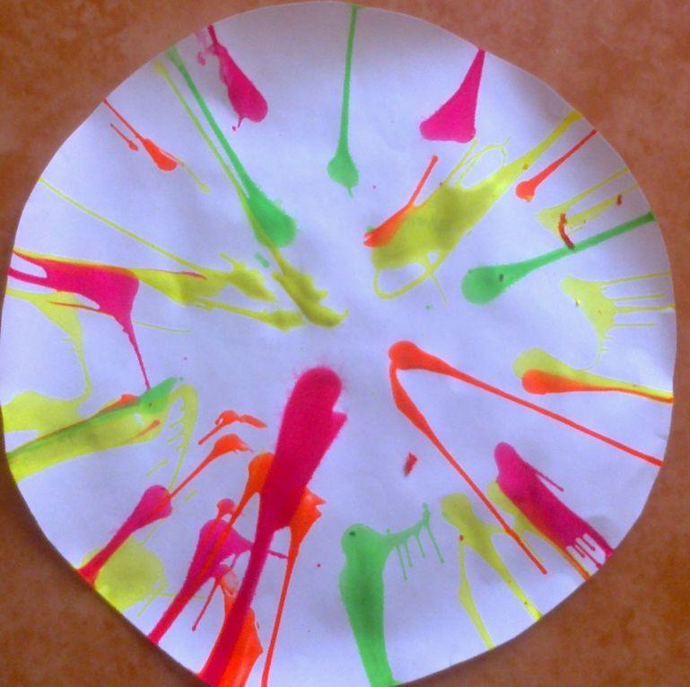 Peinture avec une essoreuse à salade