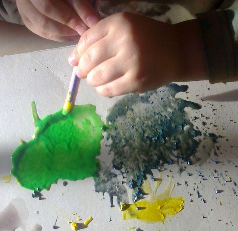 Peinture soufflée avec une paille