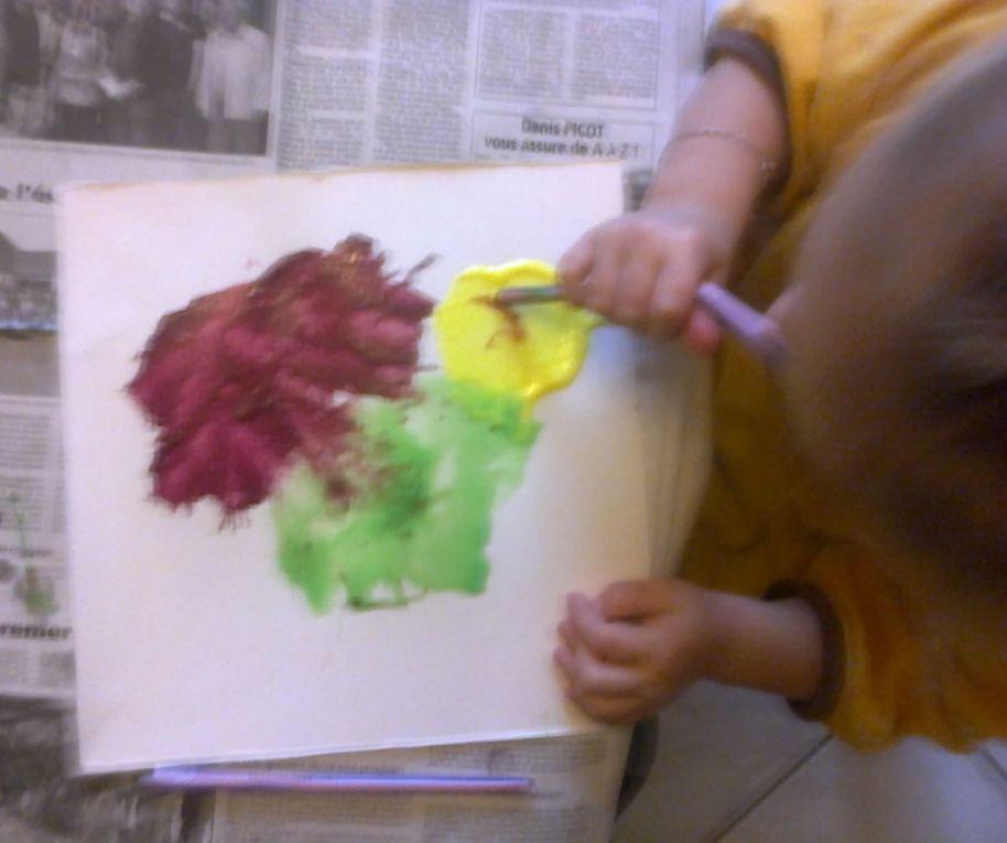 Peinture avec une paille