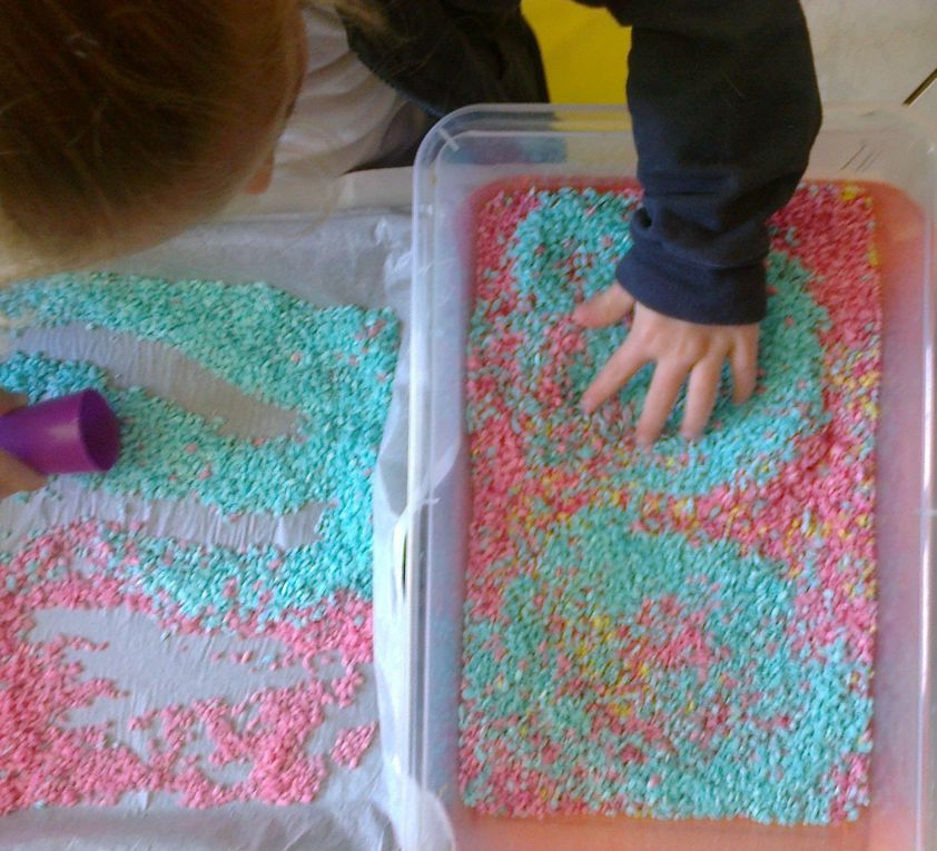 Activité riz coloré