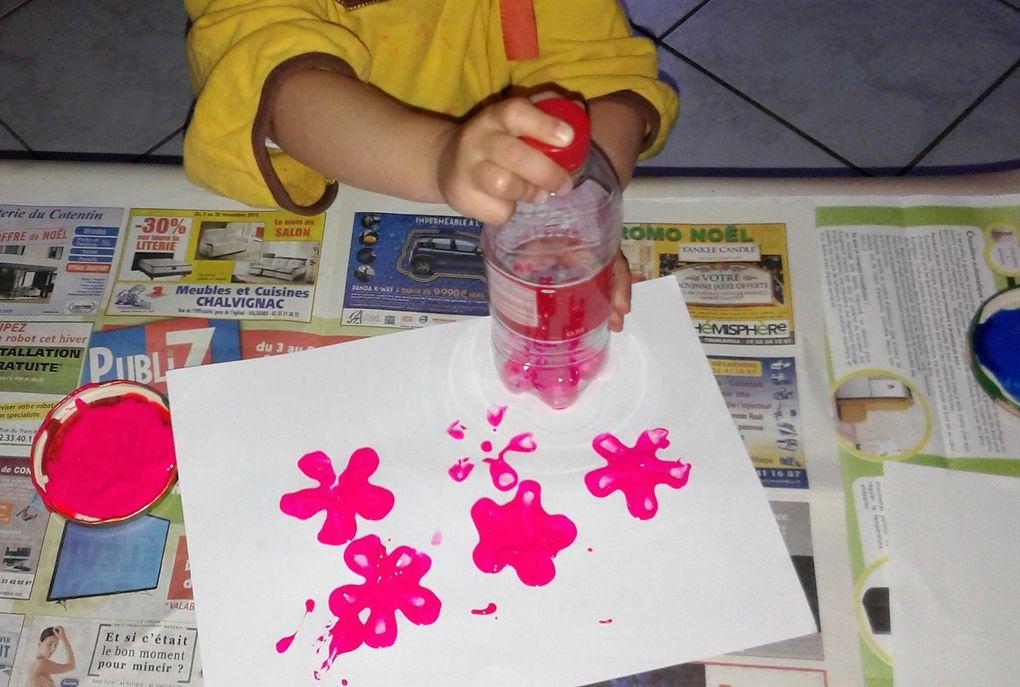 Activité peinture aujourd'hui