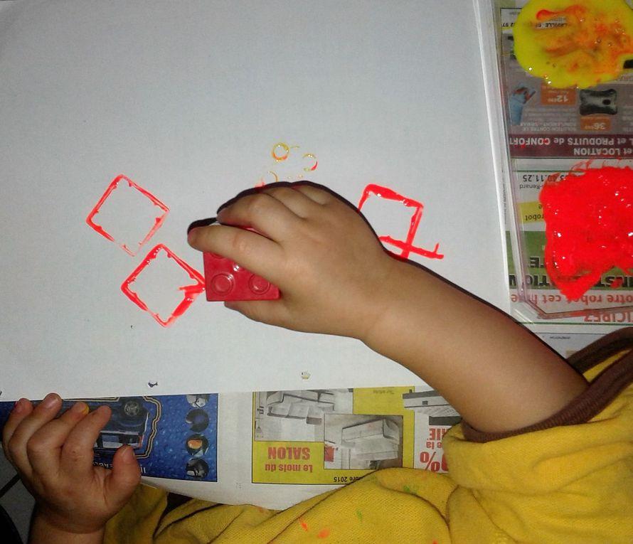 peinture avec des légos
