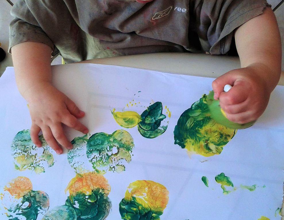 Peinture avec une pomme