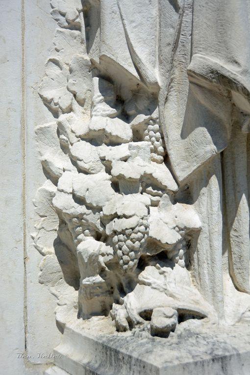 La statue et la vigne à ses pieds (cliquez sur les photos)