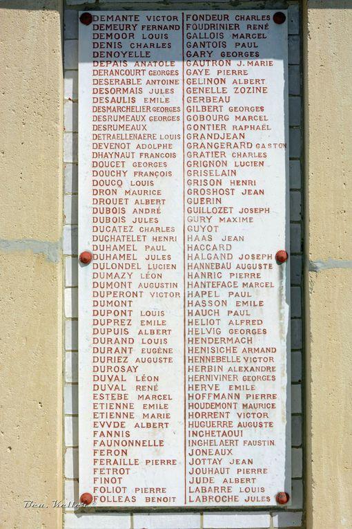 Listes des noms, cliquez sur les photos.