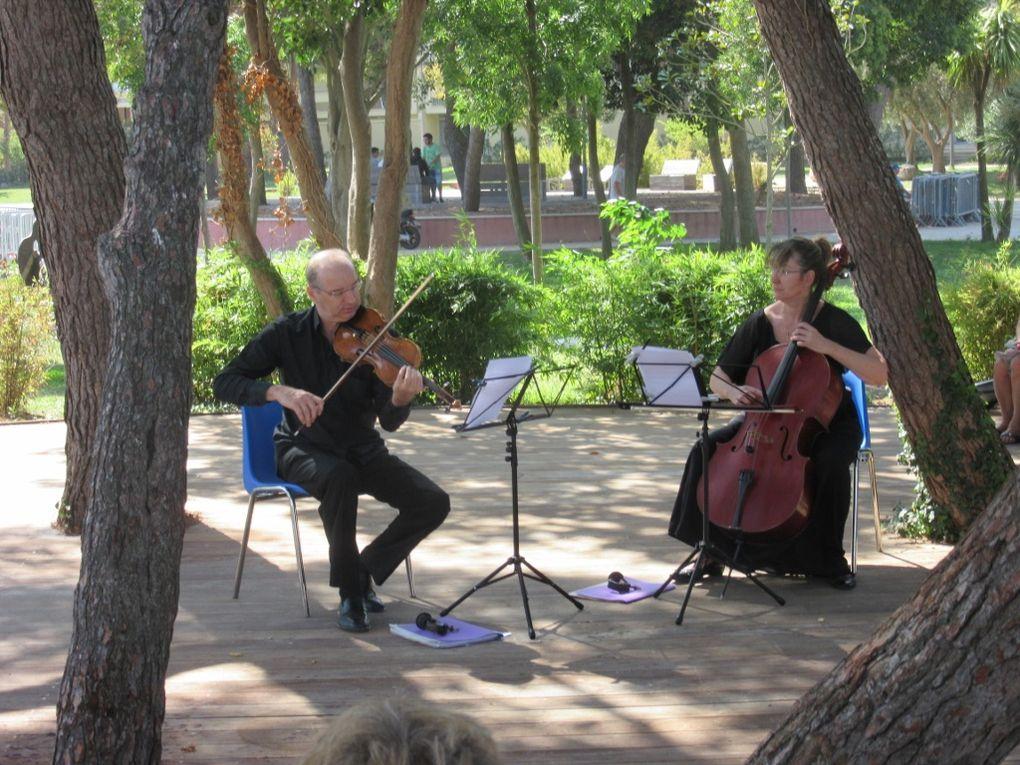 "Martin Brunschwig, violon / Christine Mourlevat-Brunschwig, violoncelle. ""Sieste Musicale"", Balaruc les bains, le 6 septembre 2017."