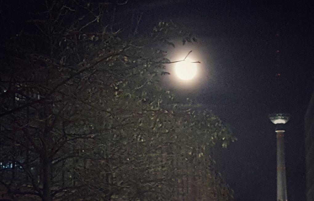 Ce soir, la pleine lune en périgée au-dessus de Berlin.
