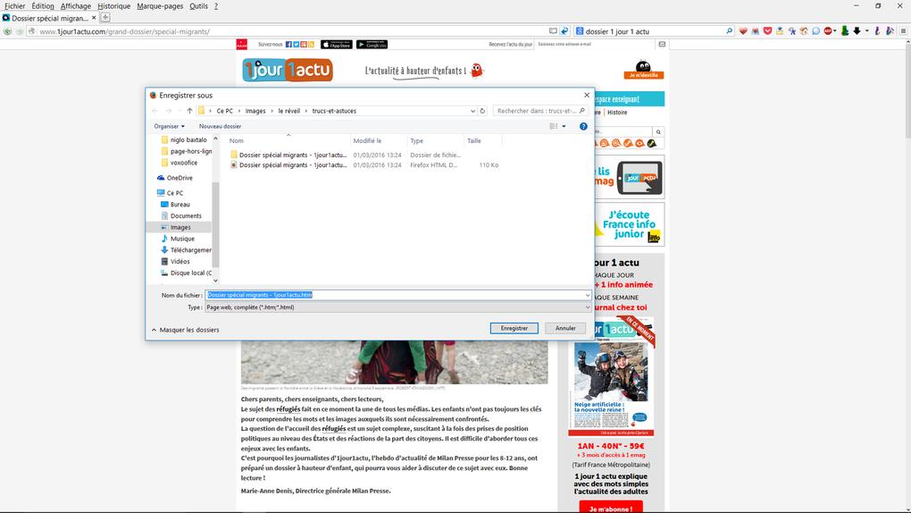 Trucs et Astuces: Travailler  sur une page Web sans connection  en classe ...
