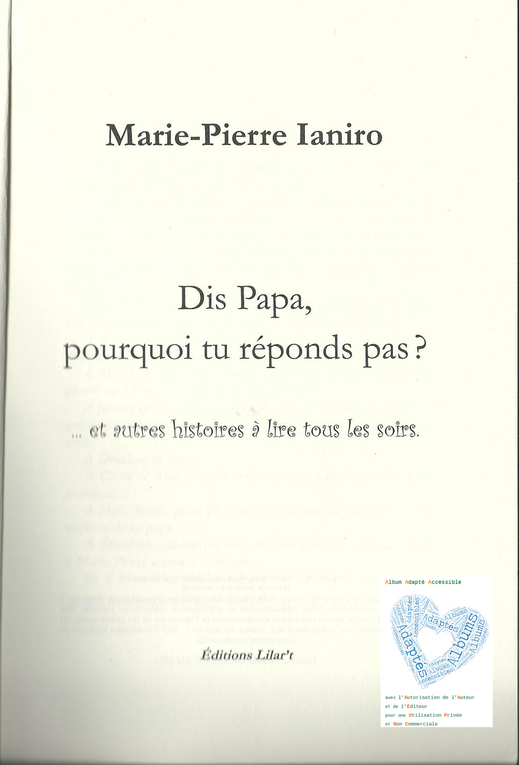 Albums Accessibles: Marie-Pierre Ianiro...