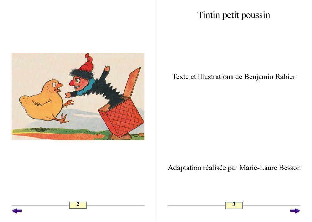 Albums Accessibles: Tintin petit poussin et autres histoires de Benjamin Rabier...