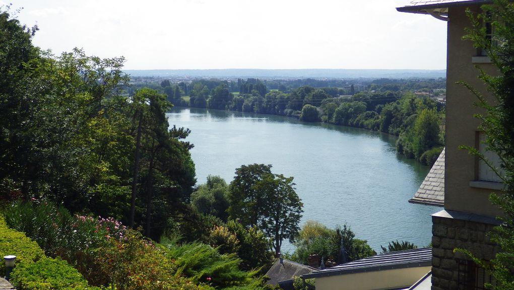 La Seine le long des communes de La Frette puis d'Herblay