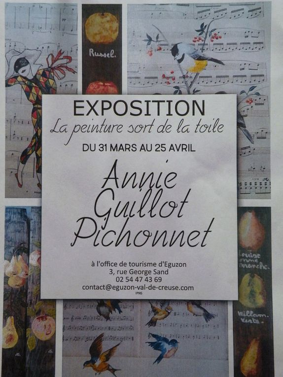 AVRIL 2017 - EXPOSITION A L'OFFICE DE TOURISME D'EGUZON (INDRE).