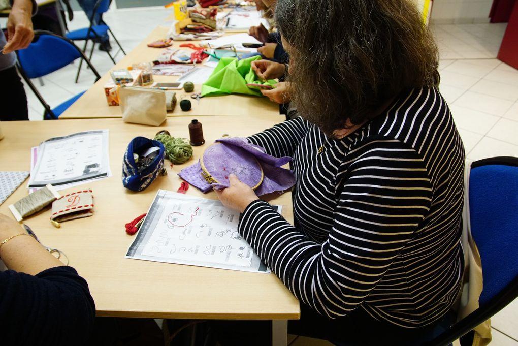 Atelier Pochettes &quot&#x3B;Rose ancienne&quot&#x3B; et &quot&#x3B;Boutons de Rose&quot&#x3B;