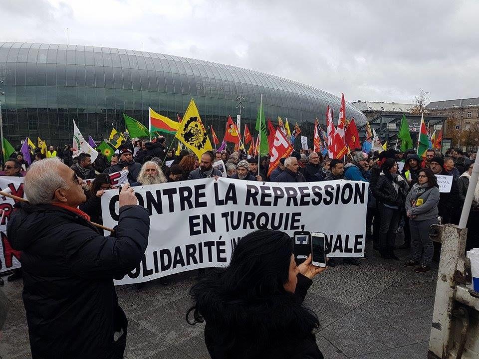 Retour sur la manifestation &quot&#x3B;Contre la répression en Turquie, solidarité internationale&quot&#x3B; (Strasbourg, 11 novembre 2016)