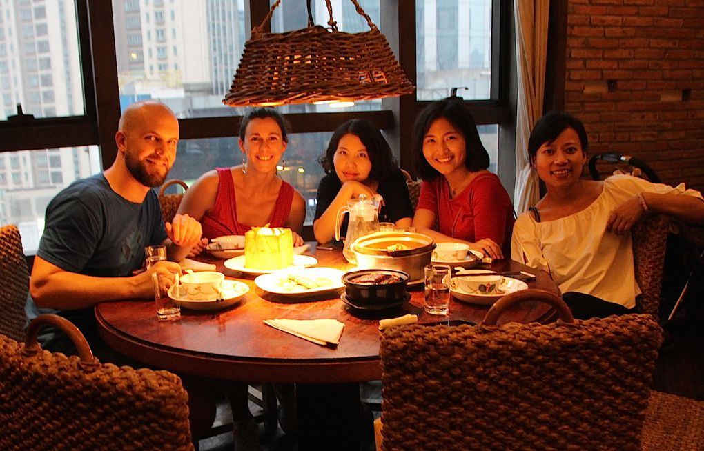 Friends and Shanghai specialties