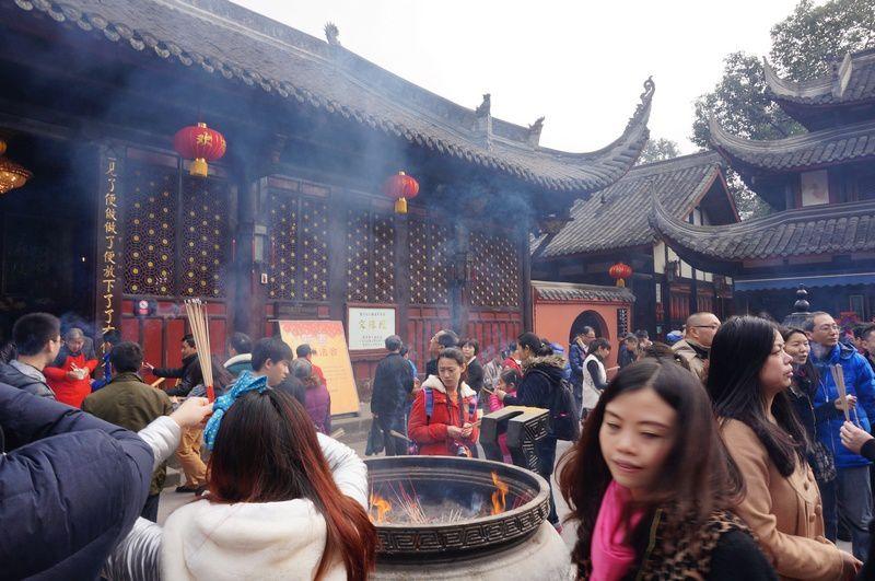 temples de Chengdu