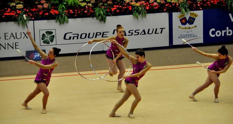 Démonstration hier en marge du Tournoi International de Corbeil