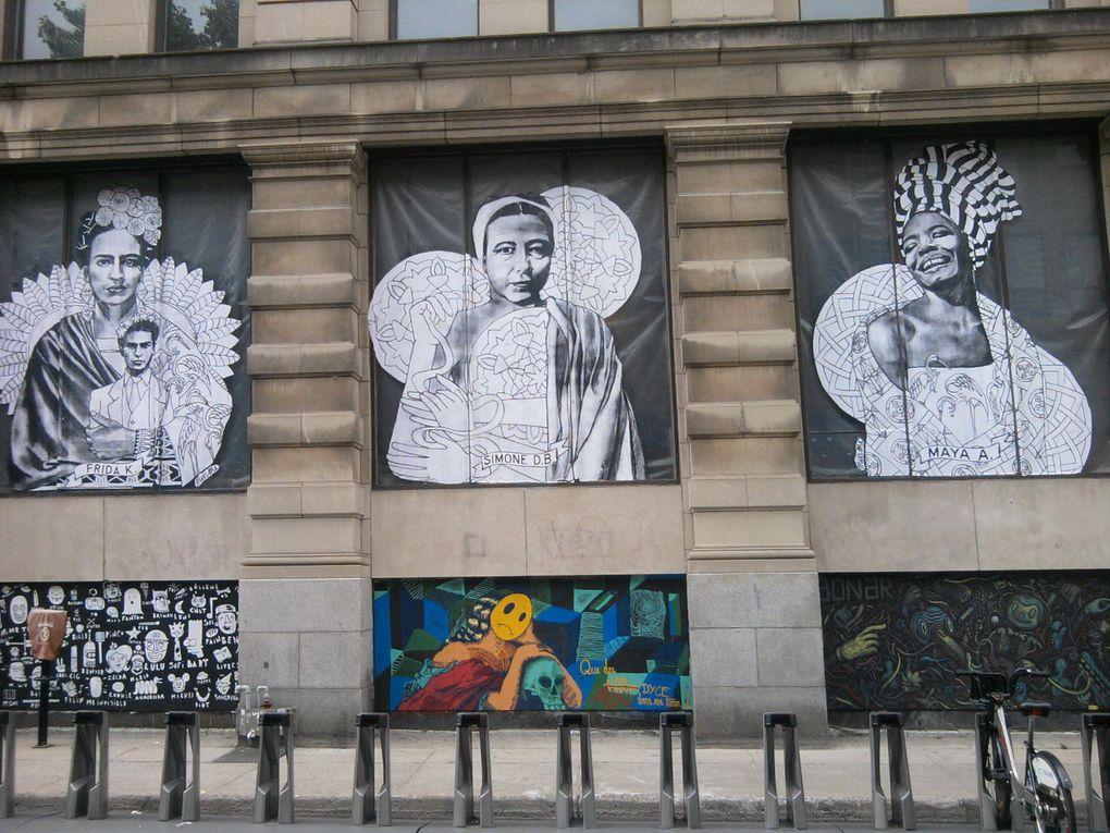 En 2014, le festival Under Pressure mettait à l'honneur MissMe. Cette militante féministe avait alors réalisé une gigantesque frise avec des représentations de Maya Angelou, Simone de Beauvoir, Frida Kahlo, Helen Keller ou encore Malala Yousafzai.