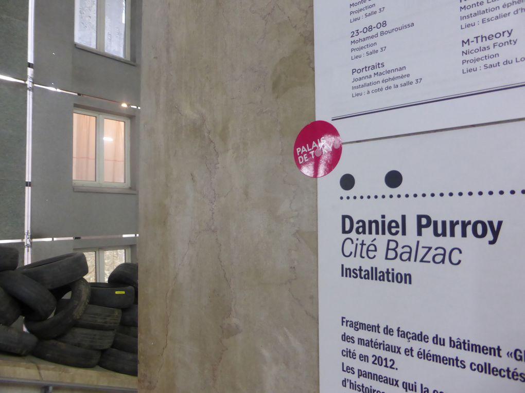 Cité Balzac, installation de Daniel Purroy dans le cadre de Banlieue. Banlieue is beautiful, Palais de Tokyo © Photographies Gilles Kraemer, samedi 17 mai 2014