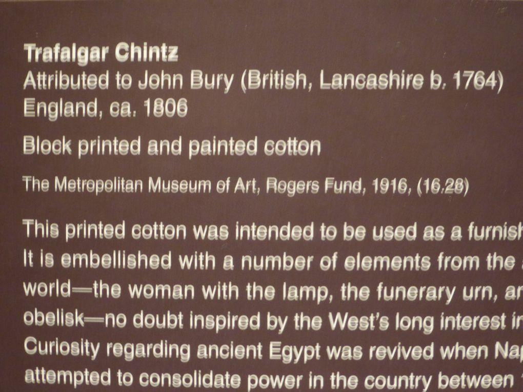 L'Apothéose de Washington, vers 1795 // Le Chintz de Trafalgar, vers 1806 // Exposition Cleopatra's Needle, MET, New York © Photographies Gilles Kraemer