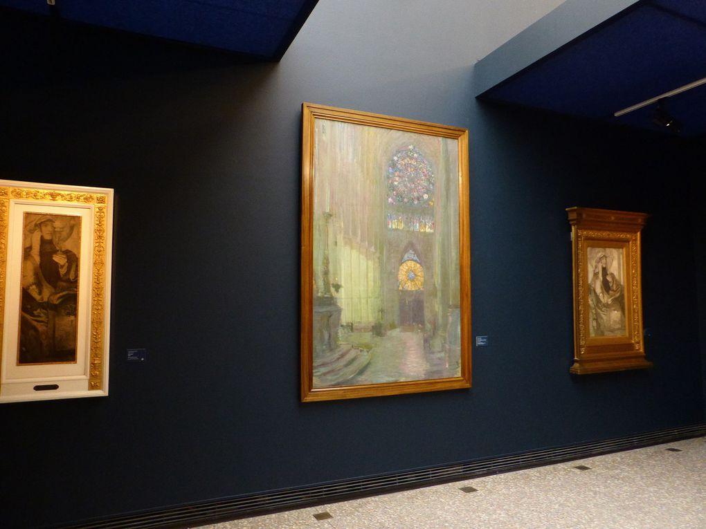Vues de l'exposition Cathédrales 1789-1914. Un mythe moderne © Photographies Gilles Kraemer, visite presse, musée des Beaux-Arts, Rouen, 2014
